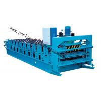 Quality Metal Glazed Roof Cap Ridge Roll Forming Machine for Ridge Sheet / Corrugated Sheet for sale