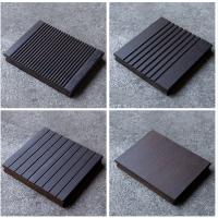 Quality 18mm Thickness Bamboo Wood Panels Charcoal Surface Treatment For Outdoor Decking for sale