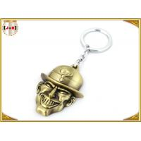 Quality Brass Plated Metal Key Ring , Customised Key Chains With Free Laser Engraved Logo for sale