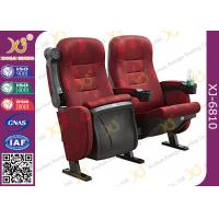 Quality Mesh Fabric Upholstered Theater Chairs With Leatherette Headrest Row Number for sale