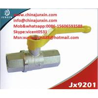 Quality yellow handle brass gas ball valve PTFE/VITON O-ring Brass Gas Valve/ brass gas isolation for sale