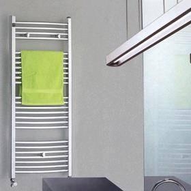 China Oval Pipe Curve Chrome Towel Warmer on sale