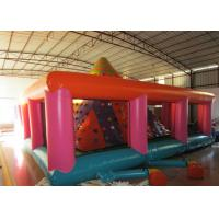 Quality Colourful Iceberg Floating Climbing Wall , Commercial Rock Climb Slide Inflatable for sale