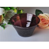 Quality OEM 472ml Capacity Bubble Glass Bowl For Scented Candle , Mouth Blown for sale