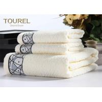 Quality 5 Star Hotel Towel Set 16s White Pink Hotel Brand Bath Towels for sale