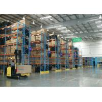 Quality Cold Roll Steel Q235B Double Deep Racking System , Industrial Storage Racks With Large Loading Capability for sale