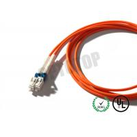 Quality 3mm 1F Multimode Fiber Patch Cord  Orange , Custom Fiber Optic Jumper for sale
