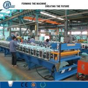 Power Saving Roof Panel Roll Forming Machine , Sheet Metal Forming Equipment