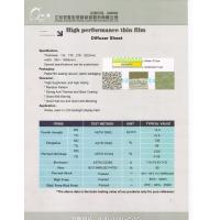 Buy cheap Diffuser sheet pet film for LCD Backlight displa from wholesalers