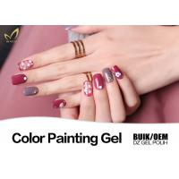 Quality Odorless UV Gel Nail Paint No Chemical Nail Polish Customized Color No Heat for sale