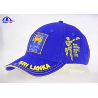 Quality 6 Panel Brushed Cotton Embroidery Custom Baseball Caps With Sri Lanka Cricket Logo for sale