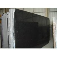 Pure Black Galaxy Granite Slab , Granite Worktop Slab High Hardness 2.8 Kg/Cm3