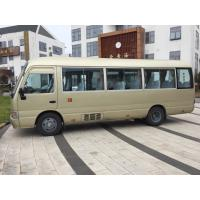China 29 seats used Toyota diesel coaster bus left hand drive   engine 6 cylinder   japan coaster bus toyota on sale