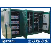 Quality Floor Mount Outdoor Telecom Cabinet IP55 Triple Bay Racking Enclosure With Three Doors for sale
