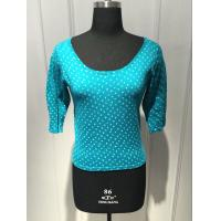 Quality Round Spot Short Sleeve Pullover Sweater , Floral Pullover Sweater BGAX16096 for sale