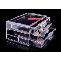 Quality Injection 3 Tiers Acrylic Makeup Display Stand , Plastic Organizer Drawers for sale