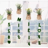China Pendant artificial plant decor with love letter wall decoration on sale