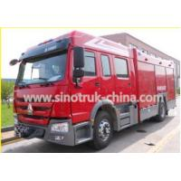 Quality 400HP Engine Rescue Fire Truck With 8 Ton Capacity Water Tank And Water Cannons for sale