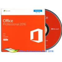 Quality Original Office 2016 Professional FPP , Microsoft Office Professional Plus 2016 DVD for sale