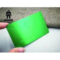 Quality Colorful Anodized Sublimation 304 Steel Metal VIP Business Cards 0.7 / 0.8mm Thickness for sale