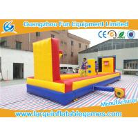 Quality Outside Inflatable Sport Games Inflatable Tug Of War With Basketball Court for sale
