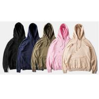 Black Pink Plus Size Oversized Hoodie , Unisex Distressed Pullover Hoodie for sale