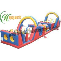 Quality Outside Safety Durable PVC commercial inflatable obstacle course for hire for sale