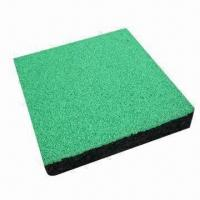 Quality Impact Absorbing Rubber Tiles for Playground Surfacing, EN1177 Norm, Shock-proof Padding for sale