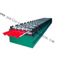 Quality PLC Hydraulic Ridge Cap Roll Forming Machine , Automatic Galvanized Metal Rolling Form Line for sale
