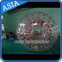Color Dots Inflatable Zorb Ball , Grass Zorb Ball , Inflatable Human Hamster Ball Customized for Kids and Adults for sale