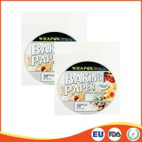 Quality Round Silicone Paper Sheets For Cooking / Baking , Professional Parchment Paper Sheets for sale