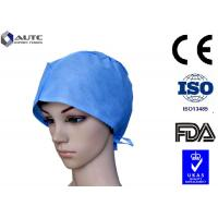 Quality PP SMS Disposable Medical Caps , Surgical Head Cap Comfortable With Back Ties for sale