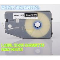Quality 9mm white label printer tape , aerospace cable ID tape cassette for sale