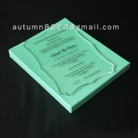 Quality acrylic wedding invitation for sale