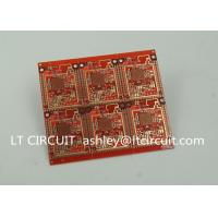 Buy 3'' U Gold Plating Multilayer PCB FR4 Printed Circuit Board Red Solder Mask at wholesale prices