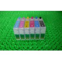China Black Plotter T080 T0801 T0802 Refillable Printer Ink Cartridges for Desktop Epson R265 for sale