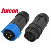 Quality Cable To Cable Waterproof Male Female Connector M25 3 Pin Push locking for sale
