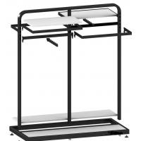 Buy cheap Metal / Wood  Customized Color Display Rack Stand Garment Showrooms  600*500*1000mm from wholesalers