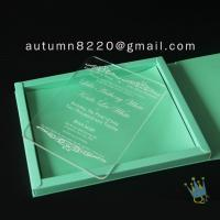 Quality good quality wedding invitation sleeves for sale