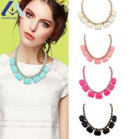 Buy cheap 2015 Fashion Alloy and Resin Small Blocks Necklace Clavicle Chain For Women BZRA10444 from wholesalers