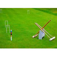 Buy Green Croquet Lawn Sand And Rubber Infill 13 Mm Bicolor Sports Artificial Turf at wholesale prices