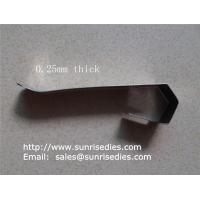 Flat spring steel clips, sheet stamping steel parts, China stamping clip factory, for sale