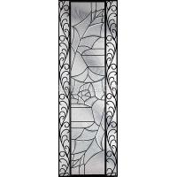 Quality decorative glass windows with art iron for sale