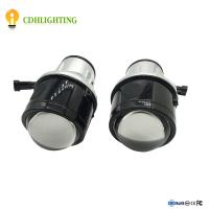 China Hot Car Fog light Bi-xenon projector HID lens with angel eye on sale