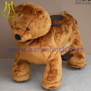 Quality Hansel children battery powered plush motorized riding animals for sale