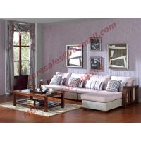 Quality Solid Wooden Frame with Fabric Sectional Sofa in Home Furniture Set for sale