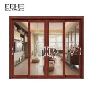 Quality Non Thermal Break Aluminium Frame Glass Sliding Door For Kitchen Color Optional for sale