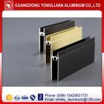 Quality Anodized extruded aluminum profile for sliding wardrobe,aluminum wardrobe door frame for sale