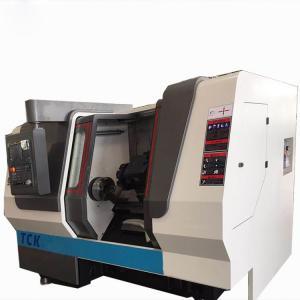 Quality Horizontal CNC Lathe Machine / Turning Metal Lathe Slant Bed CNC Center for sale