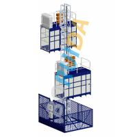 Quality Blue Cage Of Construction Hoist Elevator , Construction Material and Personal , Single Lifting Cage for sale